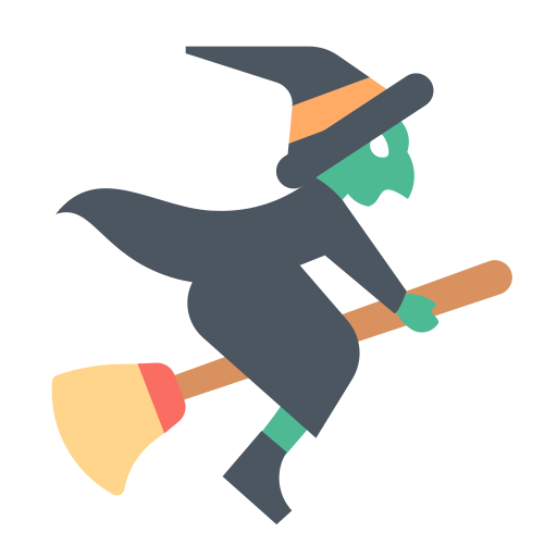 Broom, Flying, Halloween, Witch Icon Free Of Materia Flat