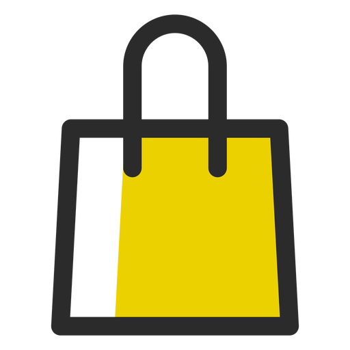 Shopping Bag Colored Stroke Icon