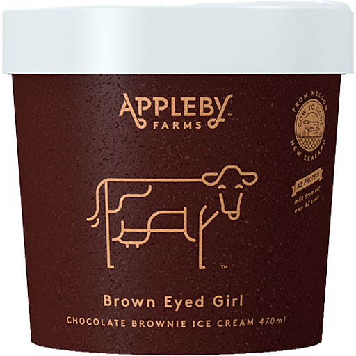Appleby Farms Ice Cream Brown Eyed Girl Chocolate Brownie