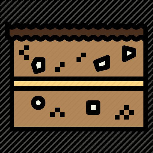 Bakery, Brownie, Cake, Chocolate, Sweet Icon