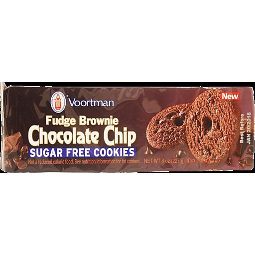 Voortman Cookies Chocolate Chip Fudge Brownie Sugar Free