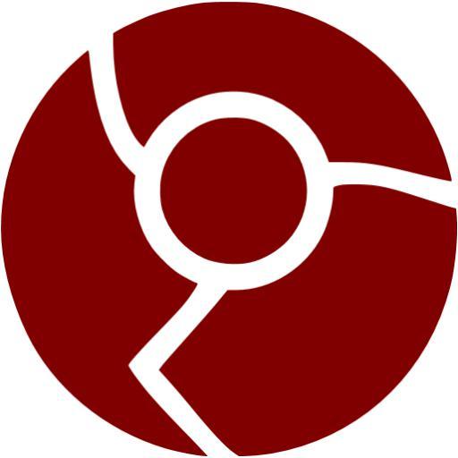 Maroon Chrome Icon