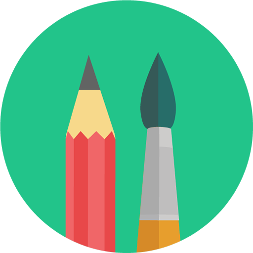 Pencil And Brush Icon Download Free Icons
