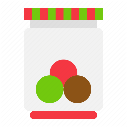 Bottle, Bubble Gum, Candy, Christmas, Sweets Icon
