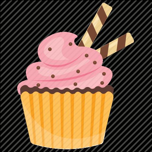 Bubblegum Cupcake, Cupcake, Muffin, Small Cake, Sweet Cake Icon