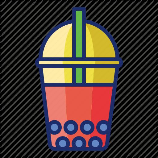 Bubble, Bubble Tea, Milk Tea, Pearl Milk Tea, Tea Icon