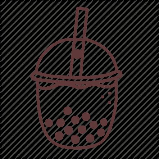 Bubble, Drink, Food, Milk, Pearl, Taiwanese, Tea Icon