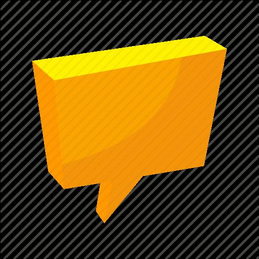 Bubble Speech, Chat, Comunication, Isometric, Message, Multimedia
