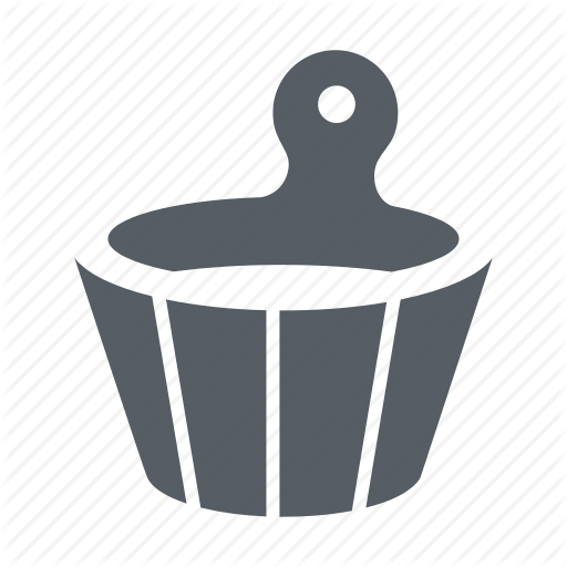 Bucket, Sauna, Water, Wellness, Wood Icon
