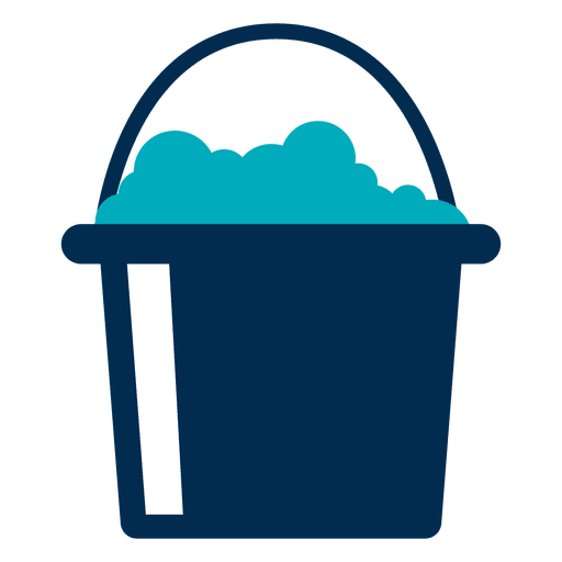 Bucket With Foam Icon