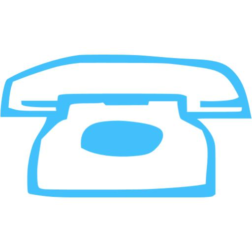 Caribbean Blue Phone Icon