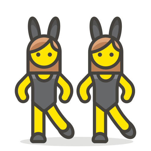 Women, With, Bunny, Ears Icon Free Of Free Vector Emoji