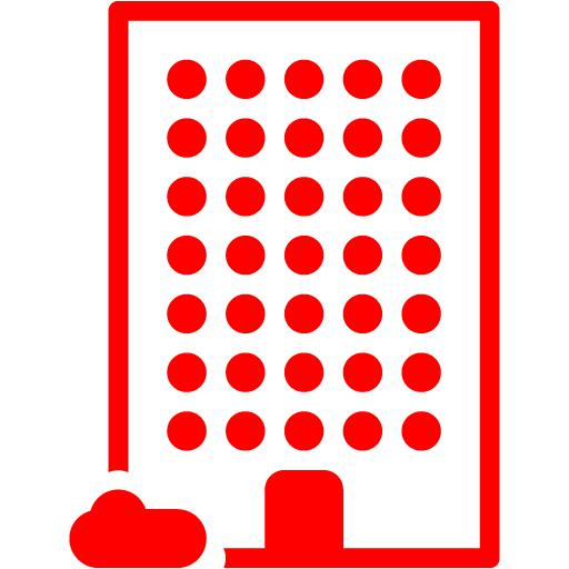 Red Building Icon