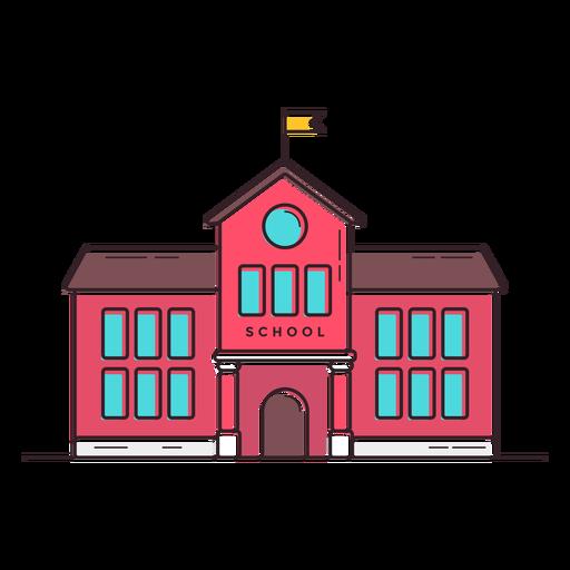 Classical School Building Icon