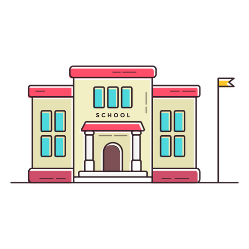 Elementary School Building Icon