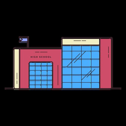 High School Building Icon