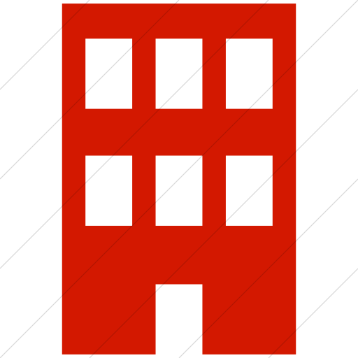 Simple Red Ocha Humanitarians Infrastructure Building Icon