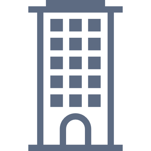 Grey, Hotel, Building Icon Free Of Hotel And Spa Icons
