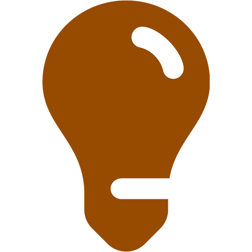 Brown Light Bulb Icon