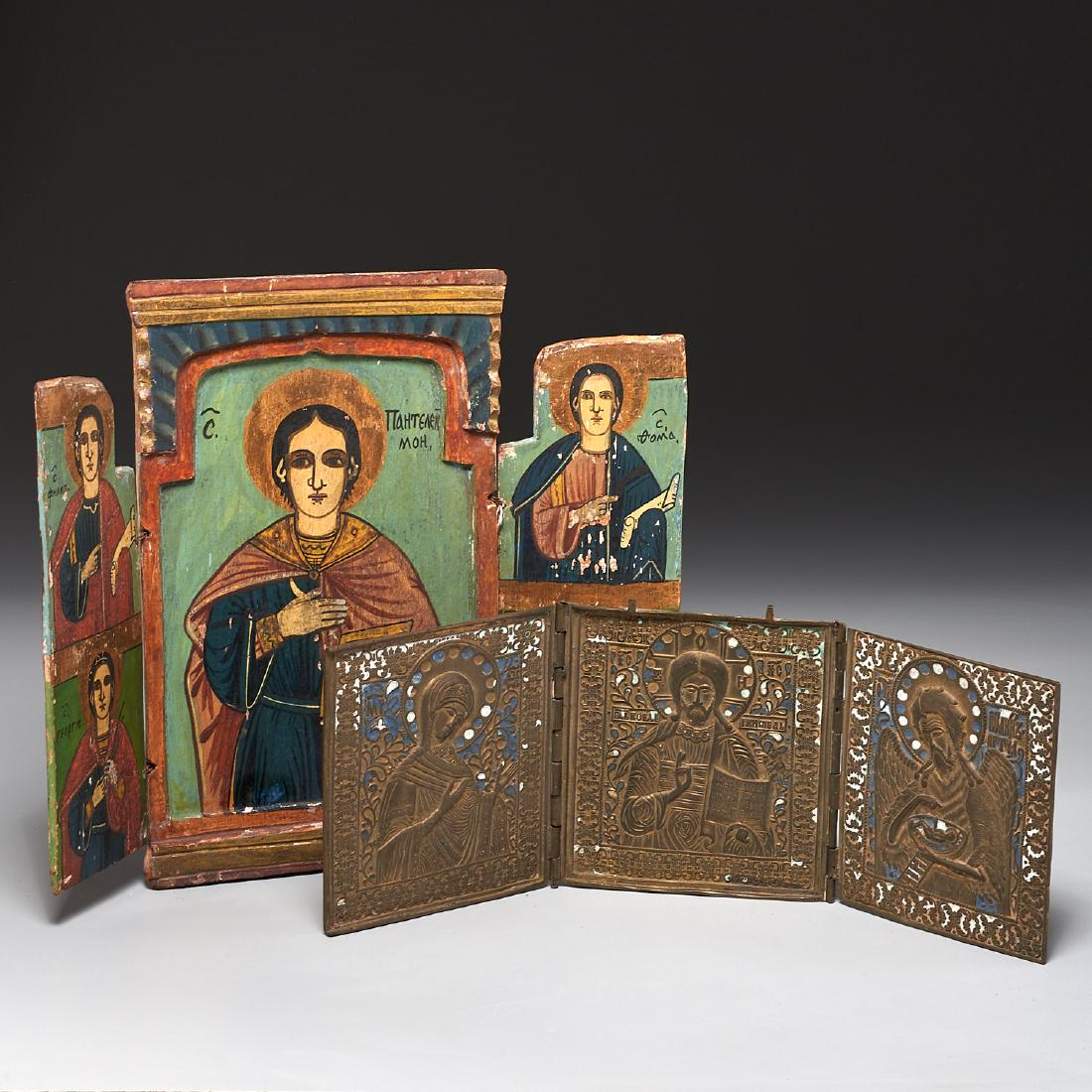 Russianulgarian Triptych Icons