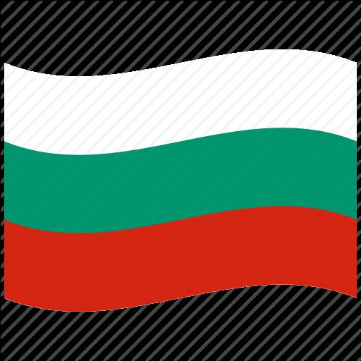 Bulgaria, Bulgarian Flag, Green, Red, Waving Flag, White Icon