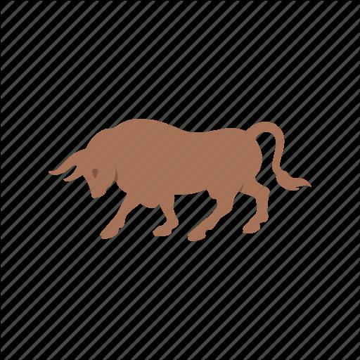 Animal, Bull, Bull Market, Stock Market Icon