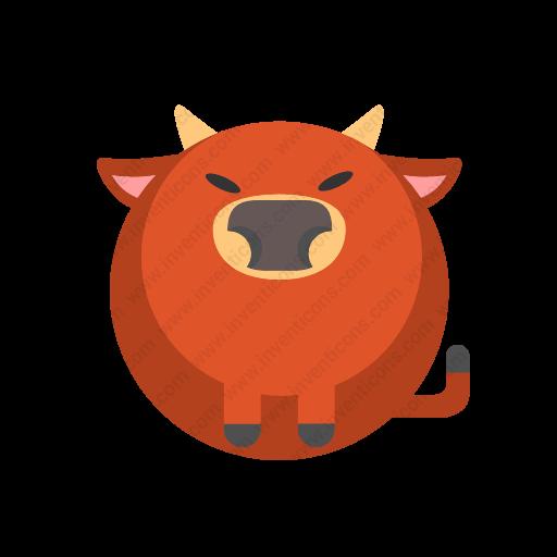 Download Bull Icon Inventicons