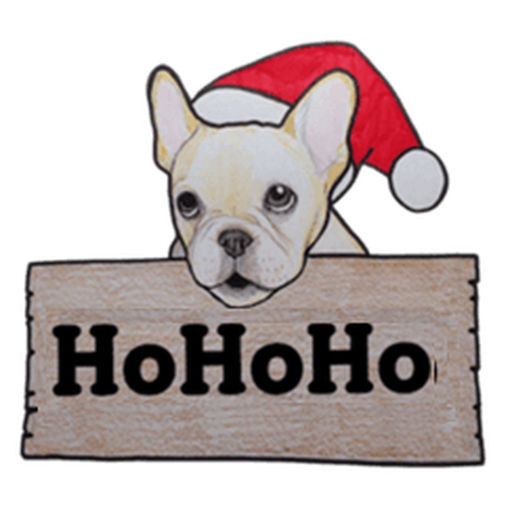 Christmas Of Cute French Bulldog Stickers