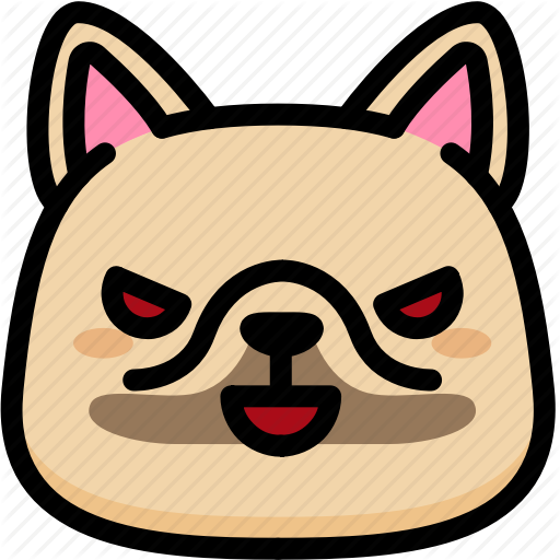 Emoji, Emotion, Evil, Expression, Face, Feeling, French Bulldog Icon