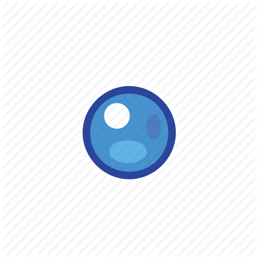 Blue, Bullet, Point Icon