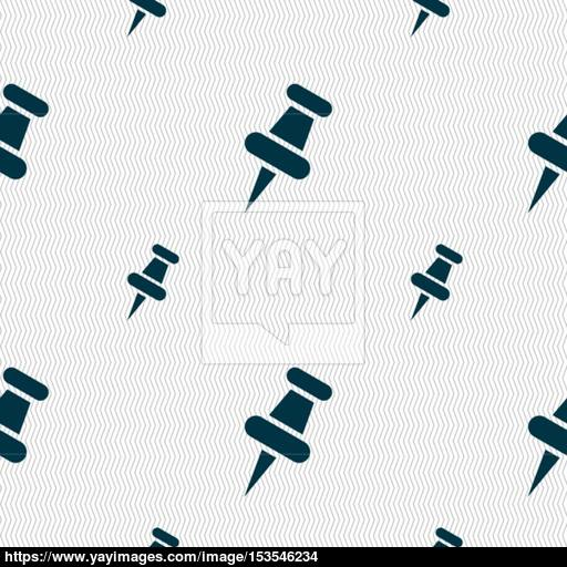 Push Pn Sign Seamless Pattern With Geometric Texture