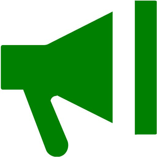 Green Bullhorn Icon