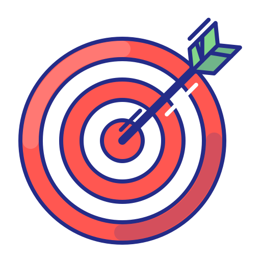 Arrow, Aim, Strategy, Purpose, Target, Bullseye Icon