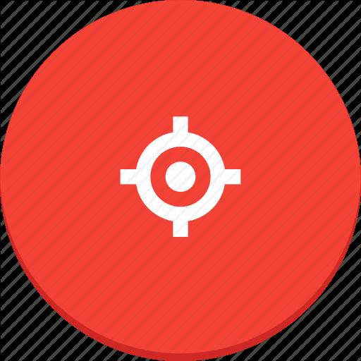 Bullseye, Gun, Material Design, Target Icon