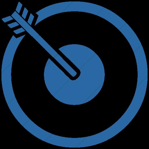 Simple Blue Classica Bullseye Icon