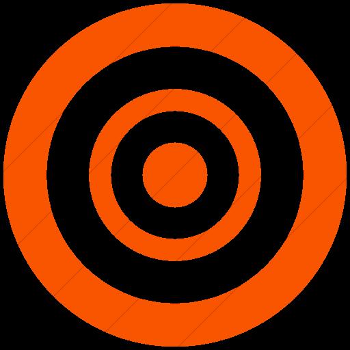 Simple Orange Broccolidry Bullseye Icon