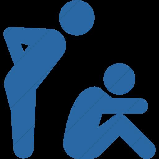 Simple Blue Iconathon Bully Icon