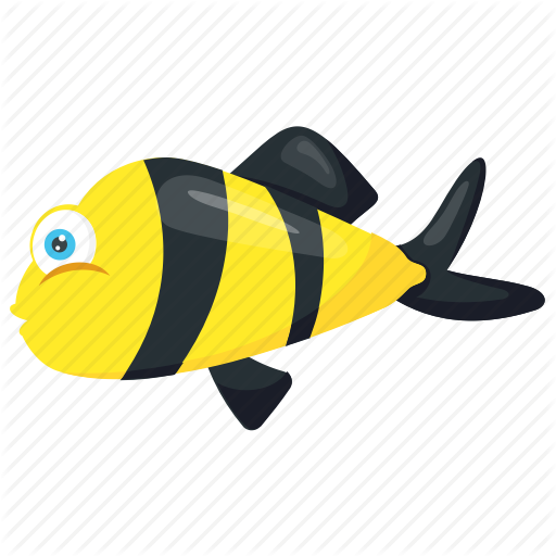Bee Fish, Bumblebee Fish, Fish, Freshwater Puffer, Goby Fish Icon