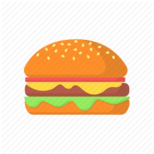 Burger, Color, Food, Packaging, Sandwich Icon