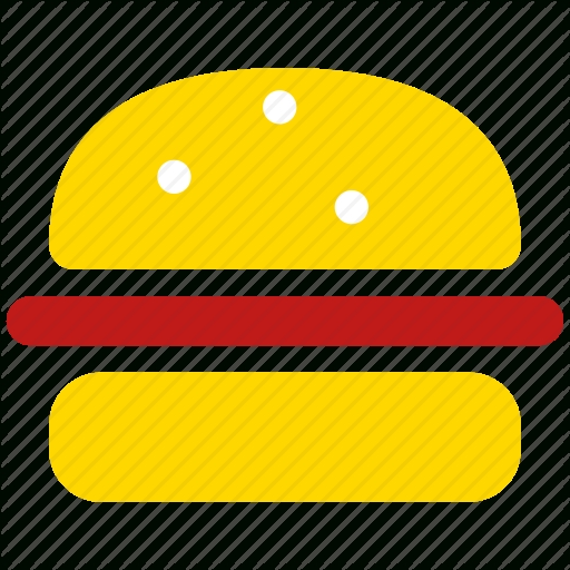 Burger, Dinner, Hamburger, Lunch, Meal, Menu, Sandwich Icon