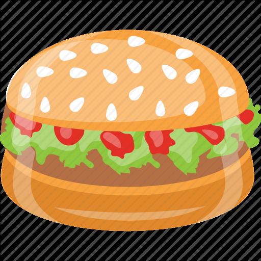 Burger, Junk Food, Patty Burger, Sandwich, Snack Icon