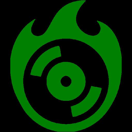 Green Burn Cd Icon