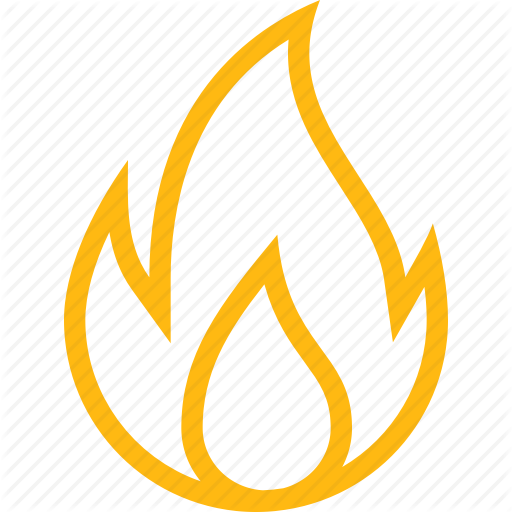 Burning, C Fire, Flame, Hot, Nature, Temperature, Yellow Icon