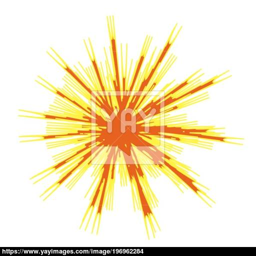 Explode Flash, Cartoon Explosion, Star Burst Icon Vector