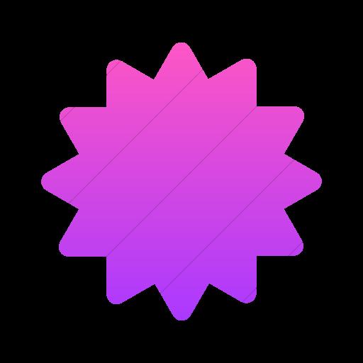 Simple Ios Pink Gradient Foundation Burst Icon