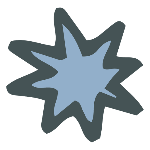 Star Burst Hand Drawn Cartoon Icon