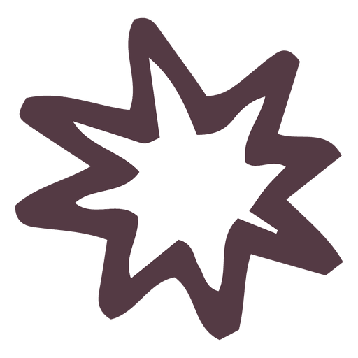 Star Burst Hand Drawn Icon