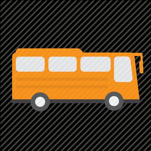 Bus, Orange, Tour, Travel, Vehicle Icon