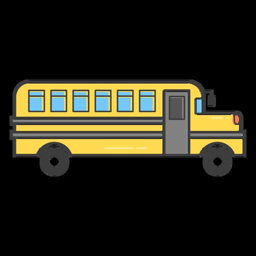 School Bus Colored Stroke Icon