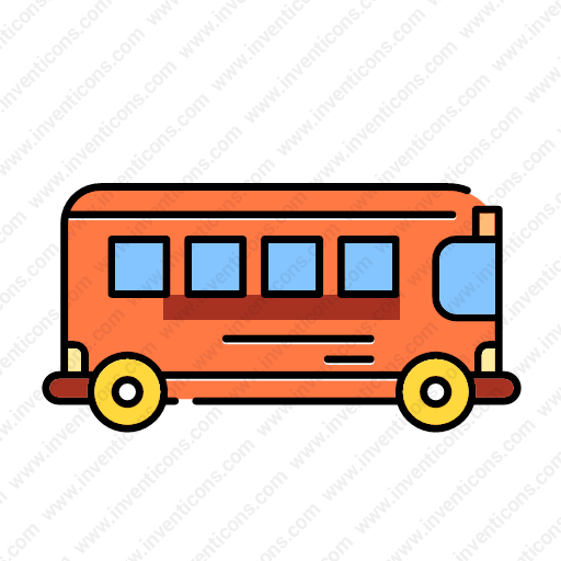 Download Transport,bus,lineal,color Icon Inventicons